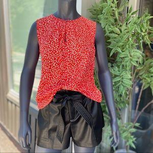 REBECCA TAYLOR Sleeveless Malia Silk Blend Top